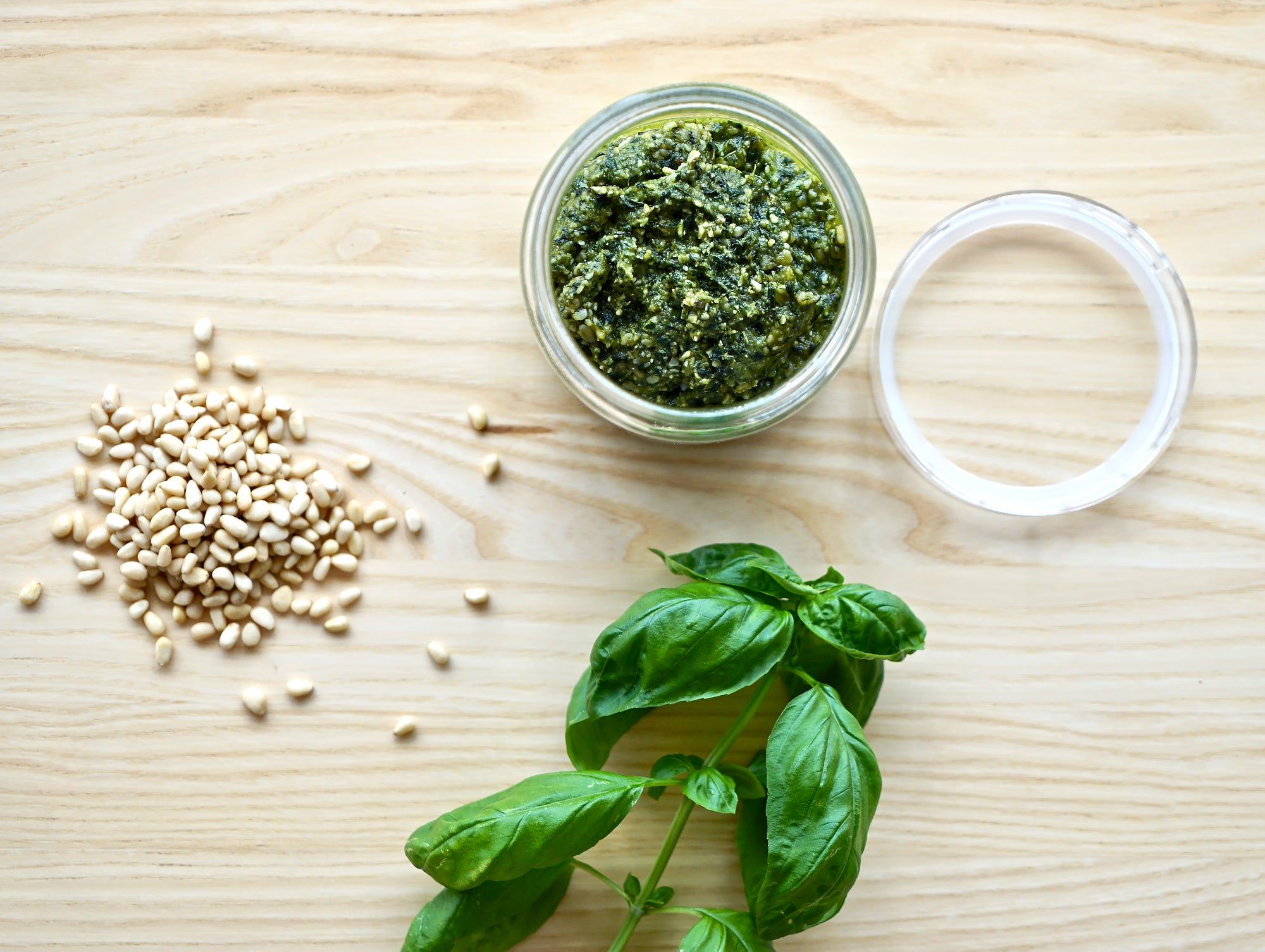 Basil Pesto in a HAY Japanese Glass Jar