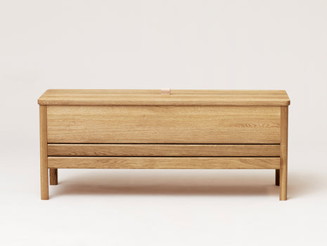 Form and Refine - A Line Storage Bench - Oiled Oak