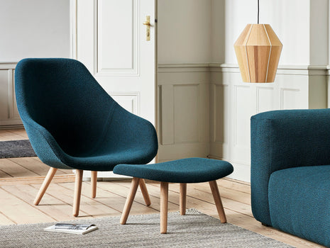 HAY AAL 92 Chair - Flamiber Petrol Blue - Matt Lacquered Oak