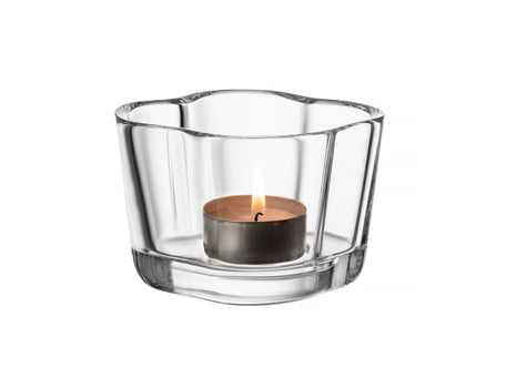 Clear Alvar Aalto Tealight Candle Holder by Iittala