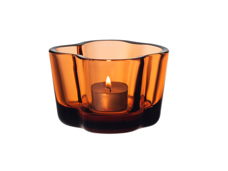 Seville Orange Alvar Aalto Tealight Candle Holder by Iittala