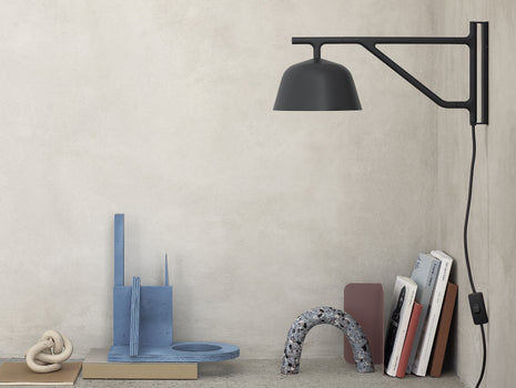 Black Ambit Wall Lamp by Muuto