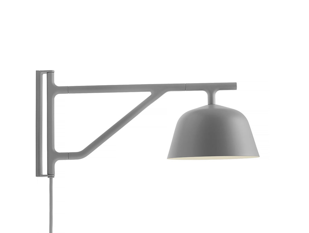 Grey Ambit Wall Lamp by Muuto