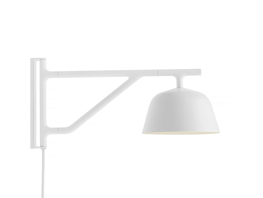 White Ambit Wall Lamp by Muuto