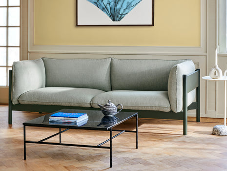 HAY Arbour Sofa / 3-Seater / Re-wool 408 / Bottle Green Beech Frame
