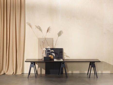 Black Stained Oak Arco Coffee Table by Design House Stockholm
