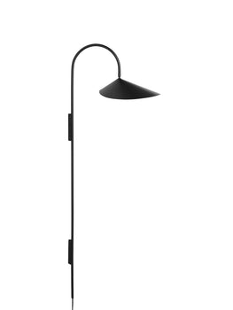 Black Arum Tall Wall Lamp by Ferm Living