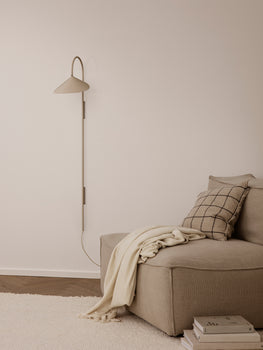 Cashmere Arum Tall Wall Lamp by Ferm Living