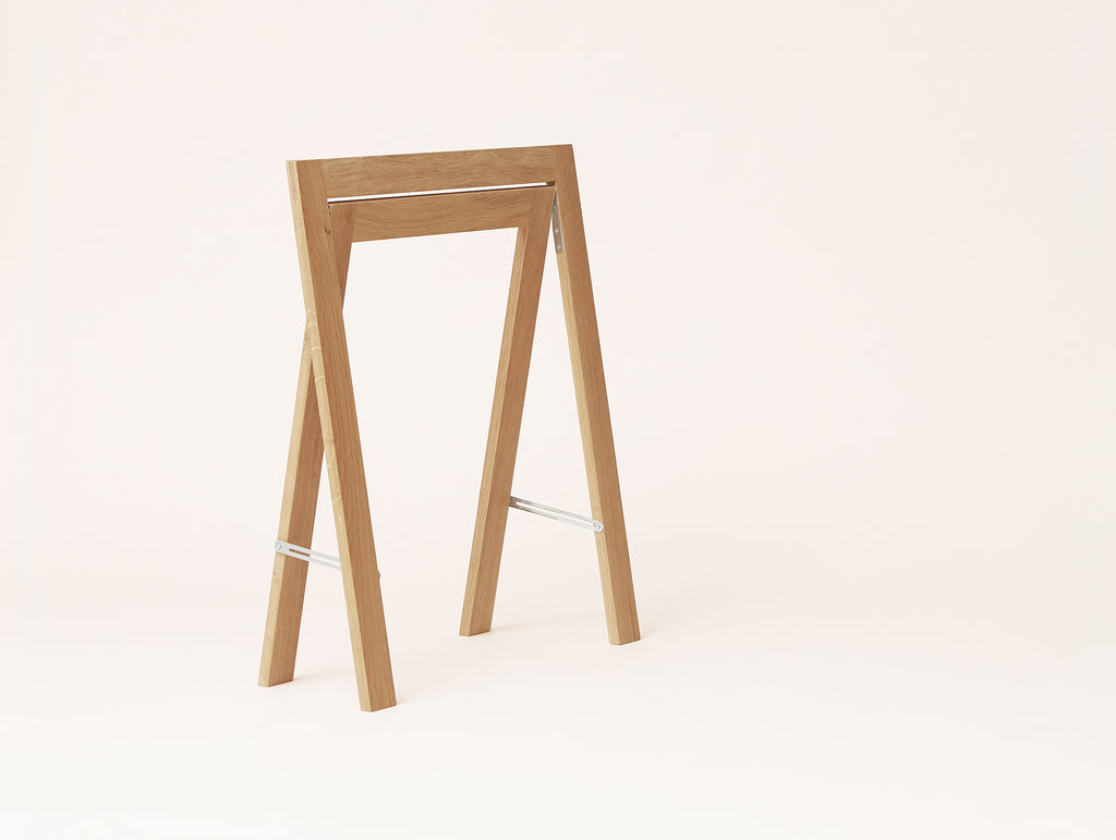Austere Trestles - White Oiled Oak - by Form & Refine
