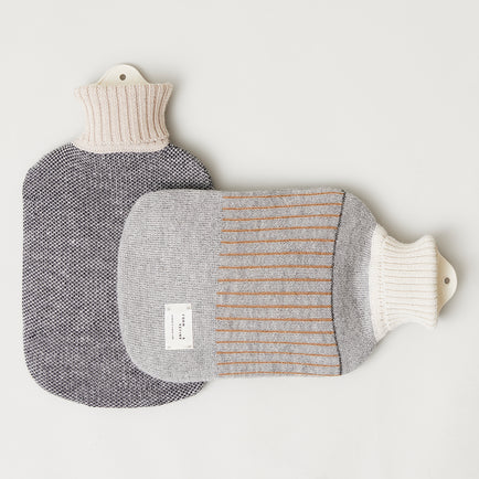 Aymara Hot Water Bottle - Cream, Grey - Form & Refine