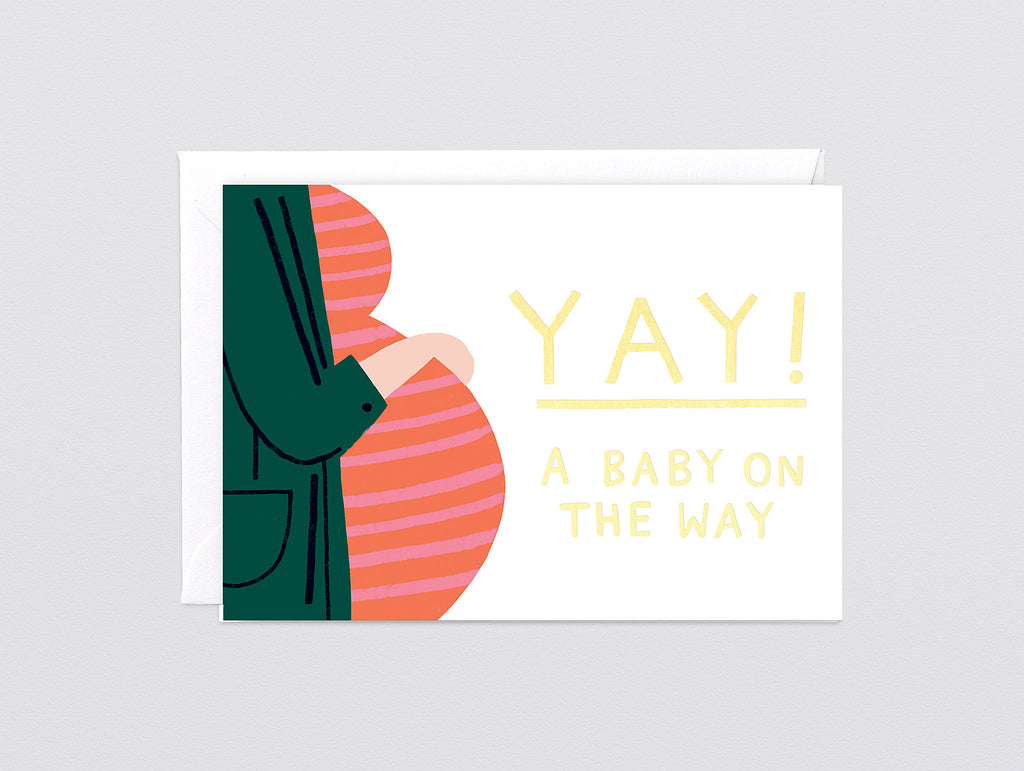 Baby On The Way Foiled Greetings Card By Wrap 183 Really