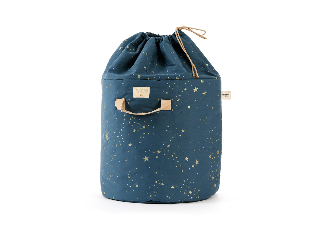 Night Blue / Gold Stella Bamboo Toy Bag by Nobodinoz