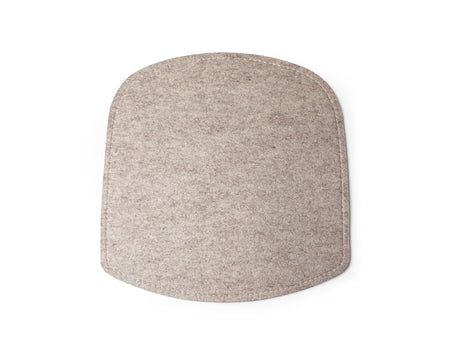 Beige Felt Wick Chair Seat Cushion by Design House Stockholm