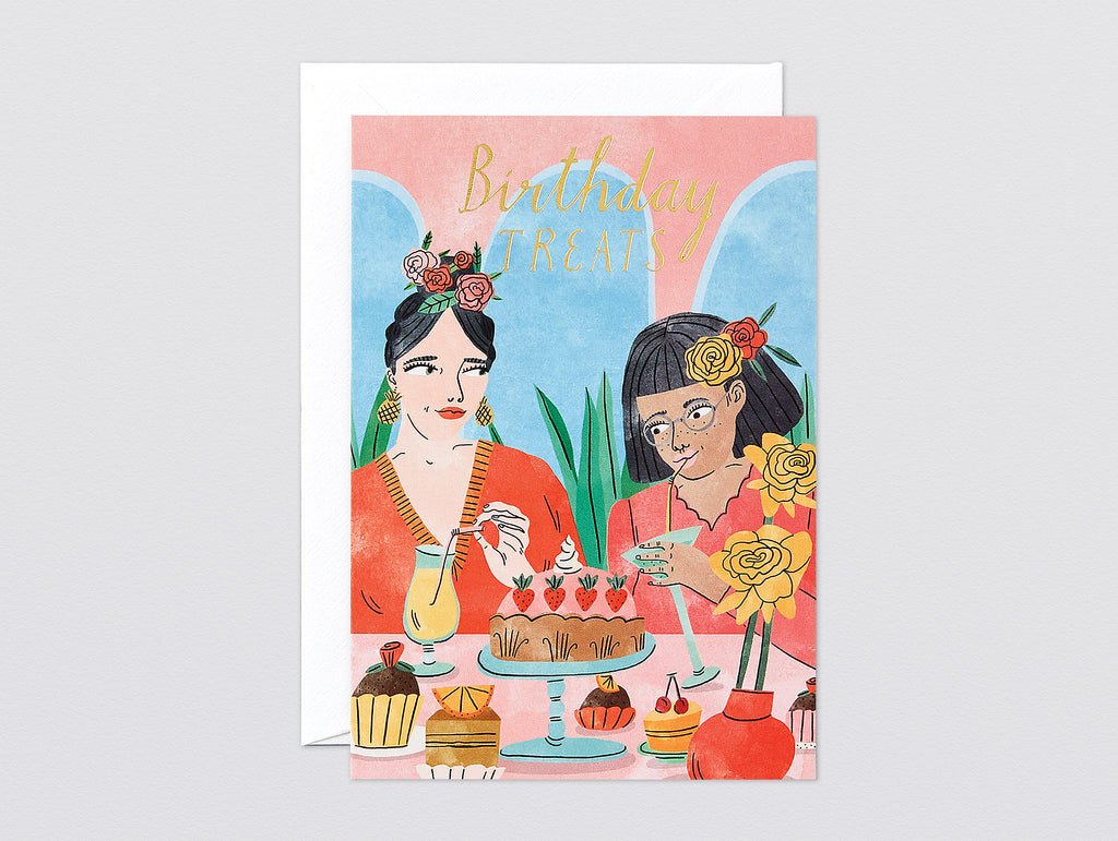 'Birthday Treats' Foiled Greetings Card by Wrap