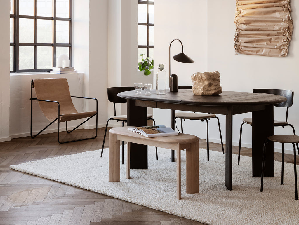 Black Oiled Oak Bevel Extendable Table (117 - 167 cm) by Ferm Living