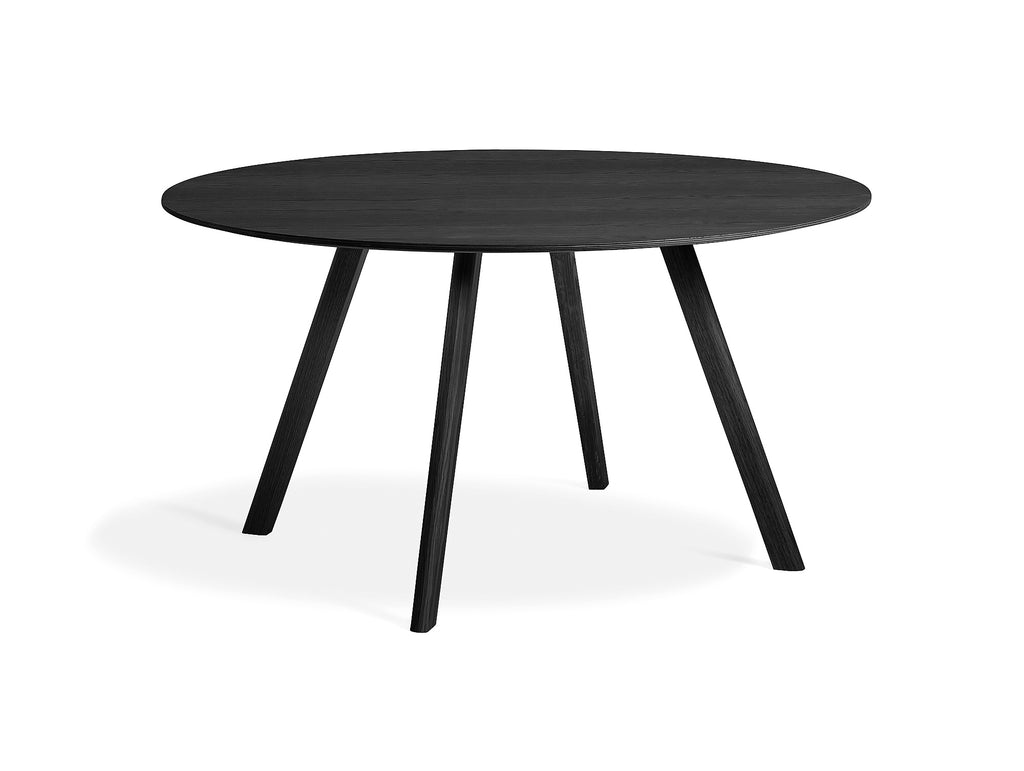 Black Stained Oak Copenhague Round Dining Table CPH25 by HAY