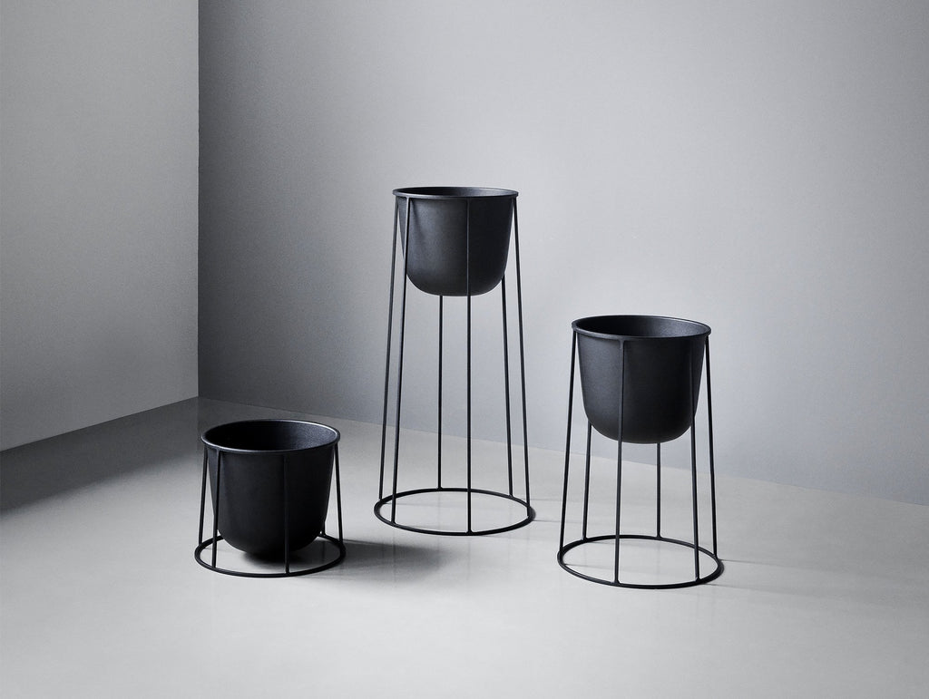 wire plant pot by menu really well made. Black Bedroom Furniture Sets. Home Design Ideas