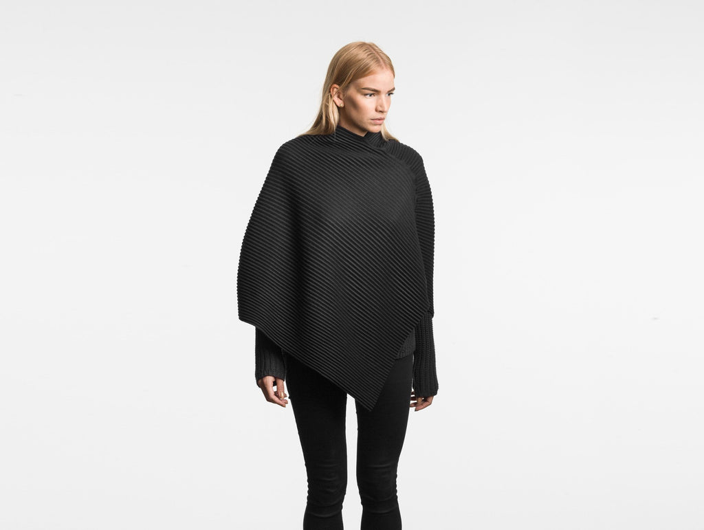 Black Pleece Short Poncho by Design House Stockholm