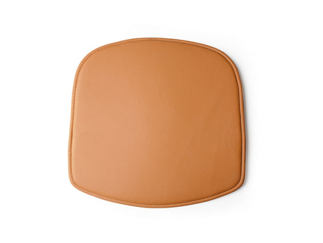 Cognac Textured Leather Wick Chair Seat Cushion by Design House Stockholm