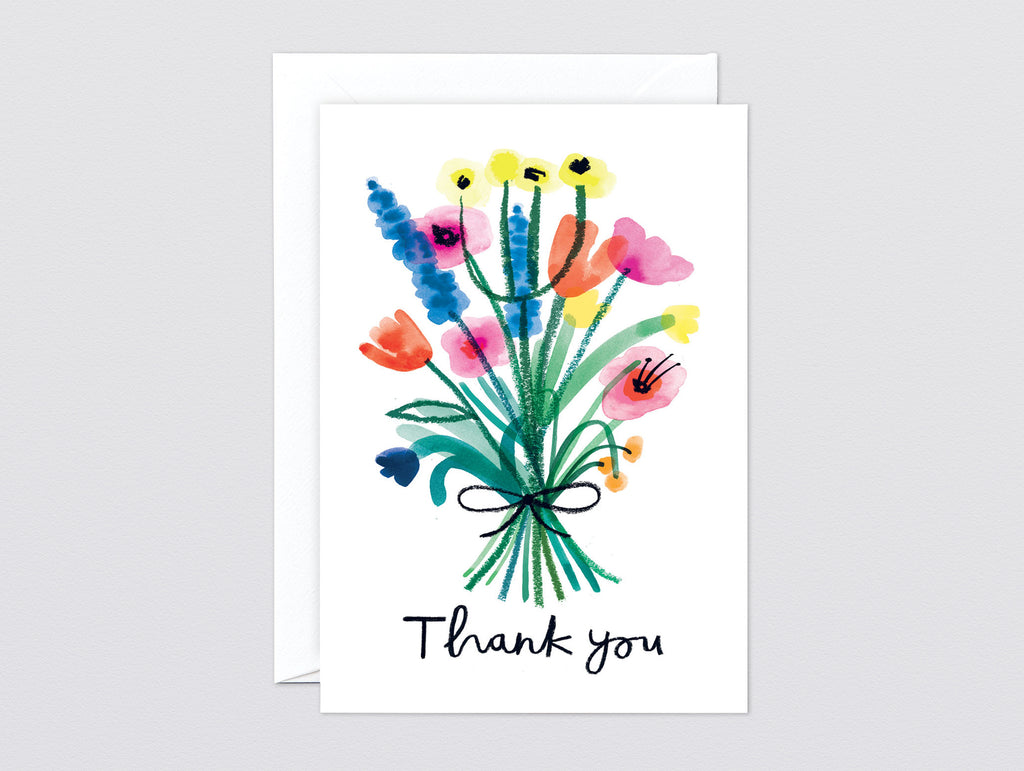 Thank you floral greetings card by wrap really well made thank you floral greetings card m4hsunfo
