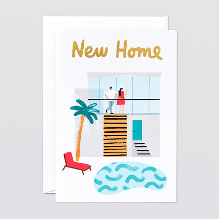 'New Home' Foiled Greetings Card by Wrap