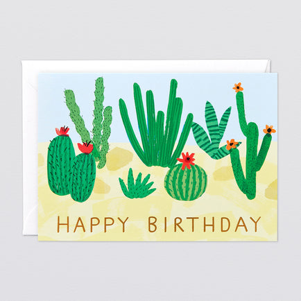 'Happy Birthday Cactus' Greetings Card by Wrap
