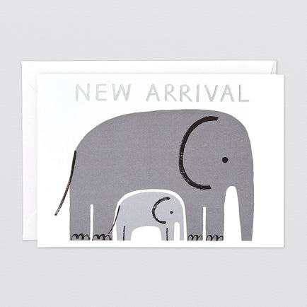 'New Arrival' Foiled Greetings Card by Wrap