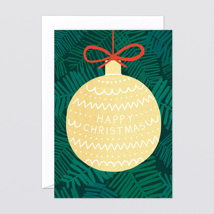 'Giant Bauble' Greetings Card by Charlotte Trounce for Wrap
