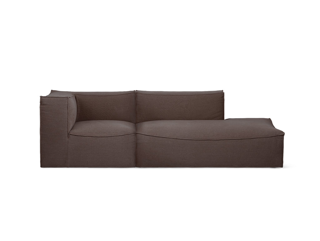 Catena 2-Seater Modular Sofa with Chaise Lounge (Left Armrest) in Hot Madison Reloaded by Ferm Living