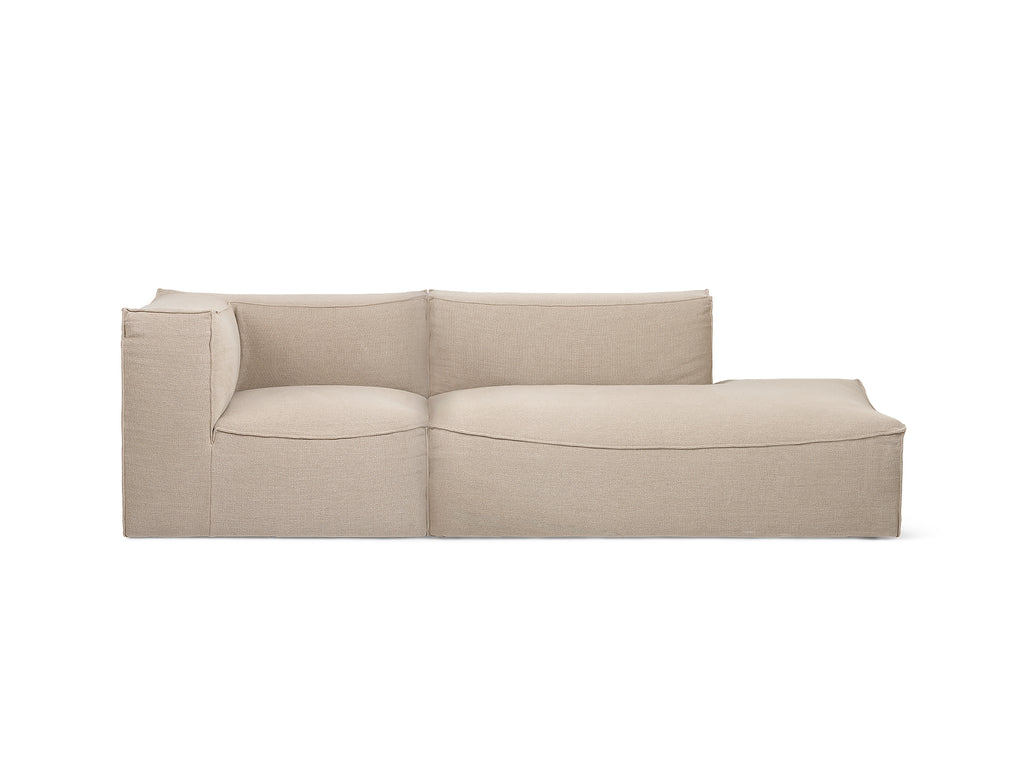 Catena 2-Seater Modular Sofa with Chaise Lounge (Left Armrest) in Rich Linen by Ferm Living