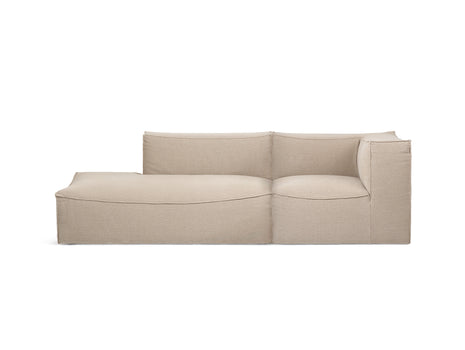 Catena 2-Seater Modular Sofa with Chaise Lounge (Right Armrest) in Rich Linen by Ferm Living