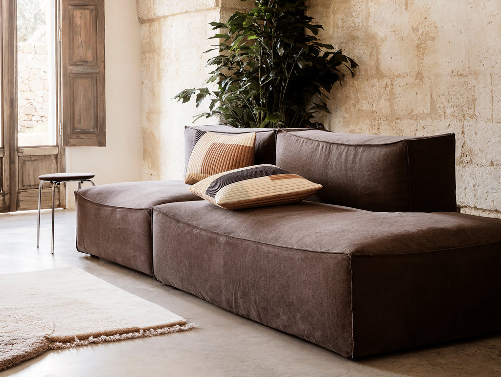 2-Seater with Chaise Lounge - Right Open End / No Armrest in Hot Madison Reloaded by Ferm Living