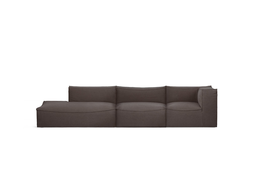 Catena 3-Seater Modular Sofa with Chaise Lounge (Right Armrest) in Hot Madison Reloaded by Ferm Living