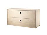 Ash String System Chest with 2 Drawers by String