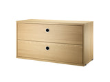 Oak String System Chest with 2 Drawers by String