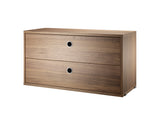 Walnut String System Chest with 2 Drawers by String