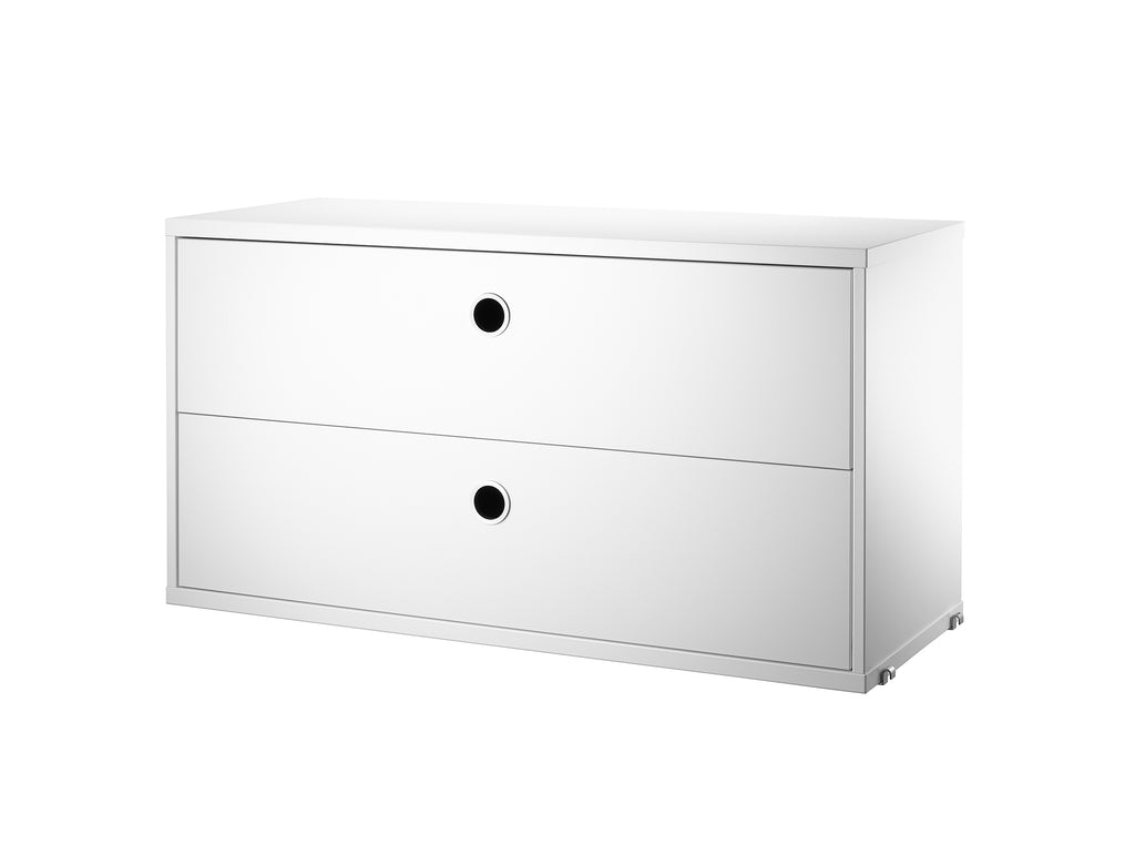 White String System Chest with 2 Drawers by String