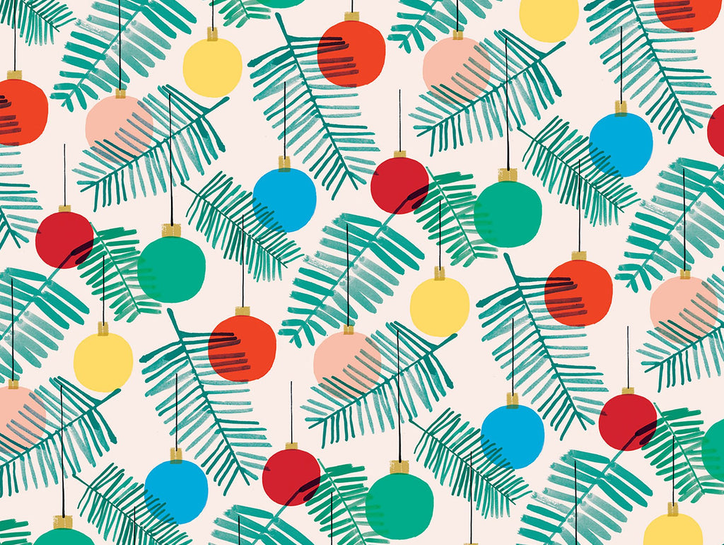 Christmas Baubles Wrapping Paper x 3 Sheets