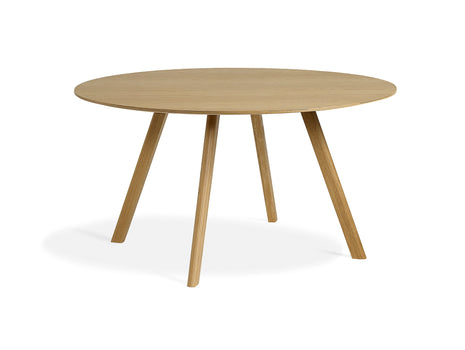 Clear Lacquered Oak Copenhague Round Dining Table CPH25 by HAY