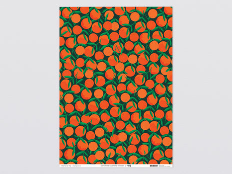 Clementines Wrapping Paper - x 3 Sheets by Wrap