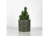 Green Granite, Medium Round Concrete Planter