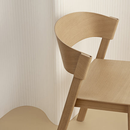 Natural Oak Cover Side Chair by Muuto