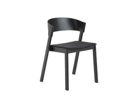 Black Oak and Remix 183 Cover Side Chair by Muuto