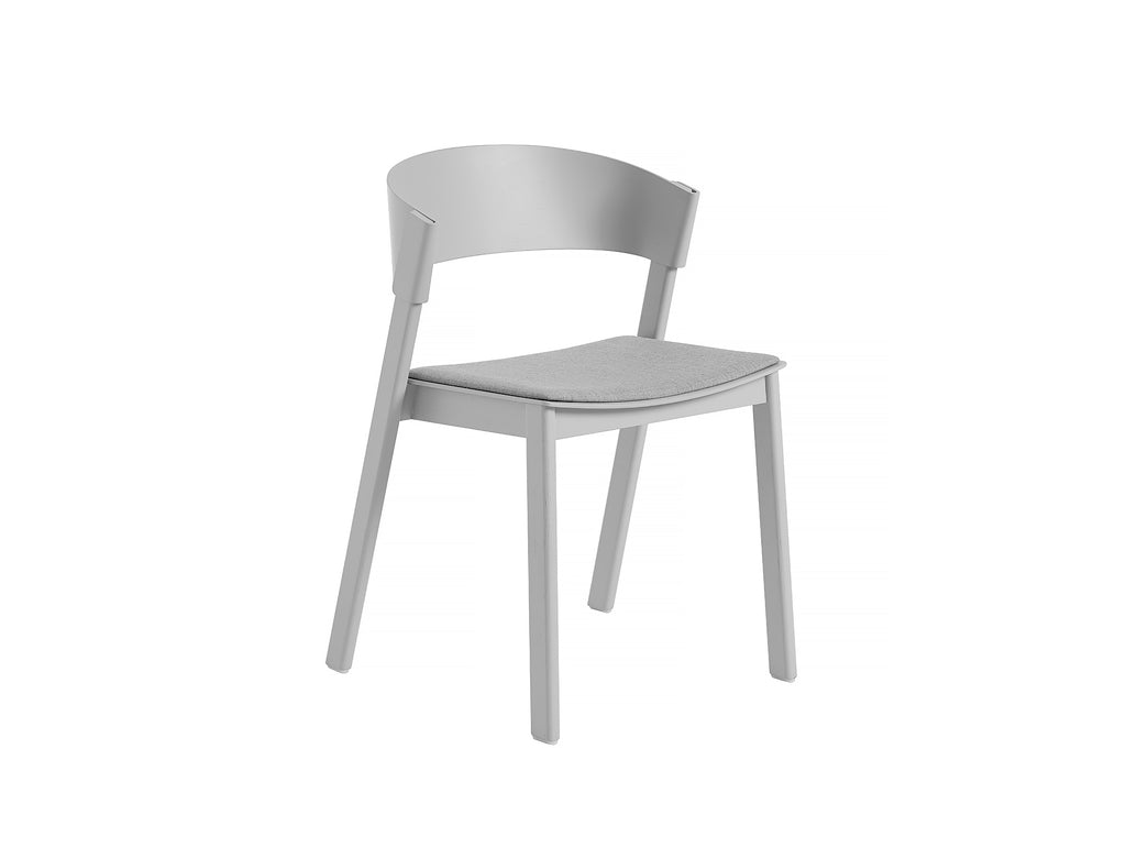 Grey Oak and Remix 123 Cover Side Chair by Muuto