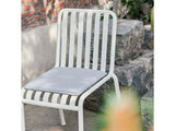 Cream White Palissade chair with Sky Grey cushion