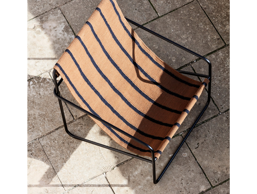 Desert Chair Stripe with Black Frame by Ferm Living