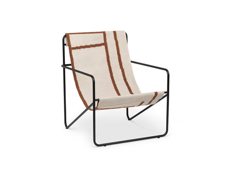 Desert Chair Shape with Black Frame by Ferm Living