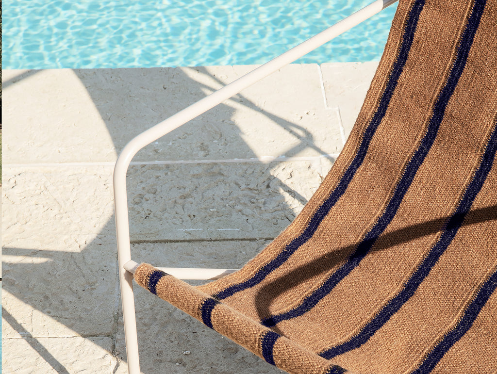 Desert Chair Stripe with Cashmere Frame by Ferm Living