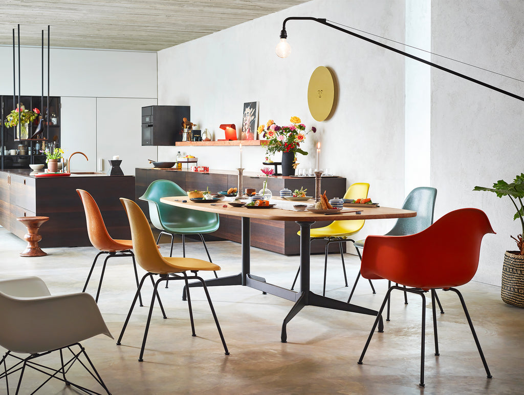 Eames Fiberglass Side Chairs by Vitra