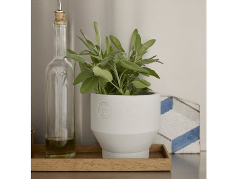 13 cm Light Grey Indoor Edge Pot by Skagerak